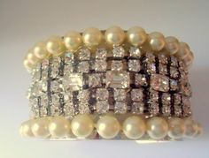 """""""Diamonds And Pearls"""" Runway Statement Cuff (ONE OF A KIND)"""