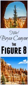 Hike the ultimate trail in Bryce Canyon, the Figure 8! It includes the Navajo Loop, the Peek-a-Boo Loop, and the Queens Garden Trail. Tips written by a former park ranger!