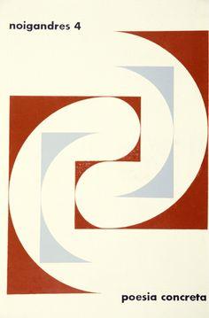 Cover of Noigandres 4, 1958; design: Hermelindo Fiaminghi.