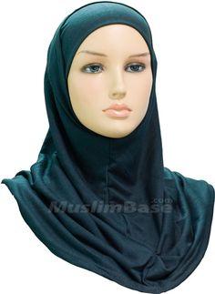 Hijab - Two Piece - Drak Green - Plain http://www.muslimbase.com/clothing/hijabs/two-piece-hijab/hijab-piece-drak-green-plain-p-3720.html