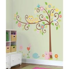 27 in. x 40 in. Scroll Tree Mega Pack 39-Piece Peel and Stick Wall Decals-RMK1439SLM at The Home Depot
