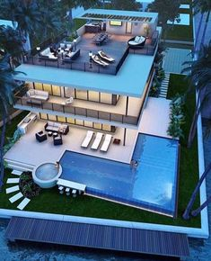 Best Ideas For Modern House Design & Architecture : – Picture : – Description Pompano Beach new construction Modern Mansion, Luxury Homes Dream Houses, Dream House Exterior, House Goals, Modern House Design, Interior Architecture, Luxury Interior, Luxury Decor, Room Interior