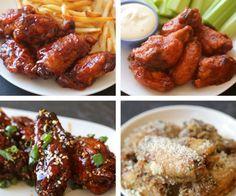Chicken Wings 4 Ways (via BuzzFeed Food)Chicken Wings 4 Ways