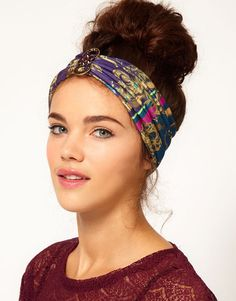 Jewel Print Stretch Head Band