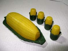 Vintage 1950's Colorful Plastic ear of Corn by TheInstantMemory