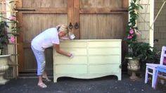 annie sloan chalk paint tutorial wax - YouTube