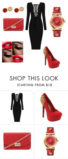 """""""Untitled #27"""" by patty52 ❤ liked on Polyvore featuring Red Circle, Forever 21, Versace and Henri Bendel"""