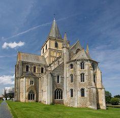 Abbey of St Vigor the Dragon-Tamer, Cerisy-la-Fôret, Normandy.