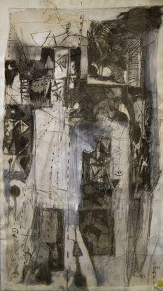 Shafik Medhat, Luoghi della memoria 1, tecnica mista su carta, 120x70cm, 1990 Opera, Bugatti, Past, 1990, History, Grey, Painting, Gray, Opera House