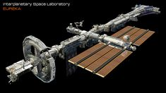 ArtStation - EUREKA_ Interplanetary Space Station Laboratory (WIP), David Yingai