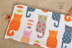 Cat pouch Cat lover gift Pencil case Make up bag Crazy cat