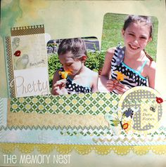 The Memory Nest: Patterned Papers with a Pop of Color