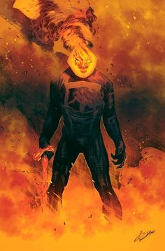 Ghost Rider by Alexander Lozano and Andrea Guardino Comic Book Artists, Comic Book Characters, Comic Character, Comic Books Art, Comic Art, Marvel Dc, Disney Marvel, Marvel Heroes, Avengers Comics