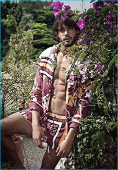 Brazilian model Marlon Teixeira appears in Murilo Lomas' spring-summer 2017 campaign.