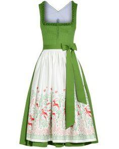 dream dirndl with illustrated apron by Tostmann Simple Dresses, Pretty Dresses, Dresses For Work, Dress Up Costumes, Cool Costumes, Folk Fashion, Retro Fashion, Drindl Dress, Easy Dress
