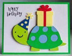 Super Baby Cards Cricut Create A Critter 41 Ideas Birthday Cards For Boys, Bday Cards, Handmade Birthday Cards, Happy Birthday Cards, Greeting Cards Handmade, Elmo Birthday, Dinosaur Birthday, Create A Critter, Cricut Cards