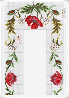 Cross Stitch Art, Cross Stitch Flowers, Cross Stitch Designs, Cross Stitch Patterns, Newspaper Art, Ribbon Work, Thread Crochet, Bargello, Pixel Art