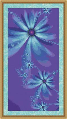 Floral Fantasy Cross Stitch Pattern