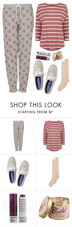 """Friday at Home"" by bamaannie ❤ liked on Polyvore featuring Topshop, Warehouse, Keds, With Love From CA, Korres, Lily-Flame, casual, love, cozy and comfy"