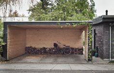 garage, carport, wood inside and out, Danish design, Denmark Townsend Homes, Port Townsend, Modern Carport, Carport Garage, Carport Designs, Outdoor Spaces, Outdoor Decor, Love Garden, Danish Design