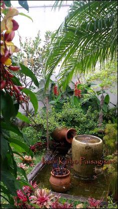 Ivani Kubo Paisagismo: Jardim tropical florido
