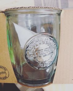 Just bought a dozen of these trendy glasses. 100% recycled glass-San Miguel hand made in Spain