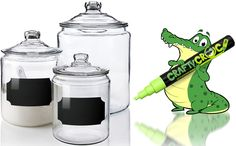 CraftyCroc™ Adhesive Chalkboard Labels on jars Liquid Chalk Markers, Chalkboard Labels, Gifts For Kids, Jars, Adhesive, Diy Crafts, Crafty, How To Make, Ideas