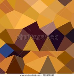 Low polygon style illustration of deep lemon yellow abstract geometric background. - stock vector #abstractbackground #lowpolygon #illustration