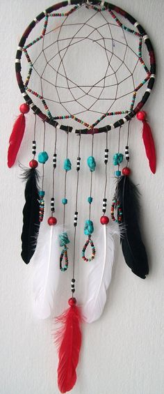AZTEC WARRIOR Rustic Dream Catcher 45.00 FeelFreeArt on etsy.com