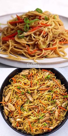 Easy to make Chicken Chow Mein is packed with nutrients and flavors that will rock your world. Tasty chow mein noodles, juicy chicken, shredded cabbage, carrots, onions, bean sprouts, garlic, and the perfect homemade sauce that is amazing! Indian Food Recipes, Asian Recipes, Healthy Recipes, Salmon Recipes, Easy Thai Recipes, Asian Noodle Recipes, Easy Chinese Recipes, Chard Recipes, Ethnic Recipes