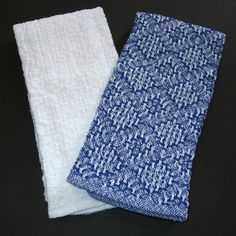 2 Handwoven Hand Towels by warpedandwonderful on Etsy, $30.00