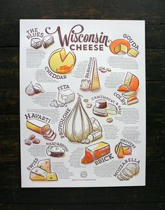 Wisconsin Cheese Poster (mmm … cheese) | Cricket Design Works (design) + Studio on Fire (printing)
