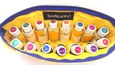 NEW Large Lemon Dropper Essential Oils Travel Case by SewNowWat, $25.99