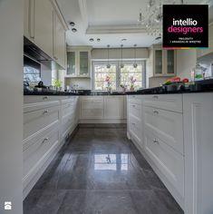 Willa w Stalowej Woli - Duża zamknięta kuchnia w kształcie litery u, styl klasyczny - zdjęcie od Intellio designers projekty wnętrz