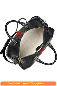 e8a93056d5f Gucci full leather Guccisima black. Gucci Boston Leather Handbag 247205  black This Gucci handbag has pale-gold-tone hardware