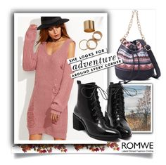 """""""ROMWE 8"""" by melisa-hasic ❤ liked on Polyvore featuring Nearly Natural and Kate Spade"""