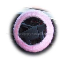 Pretty Blossom pink faux fur fabric fuzzy Steering wheel cover handmade from Blossom pink faux fur fabric Pink up your car Fuzzy Steering Wheel Cover, Pink Car Interior, Pink Car Accessories, Pink Jeep, Pink Faux Fur, Cute Cars, Gifts For Her, Pretty, Fabric