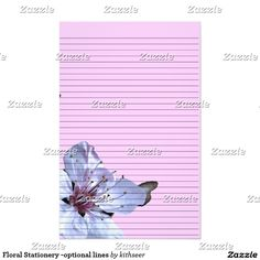 Floral Stationery -optional lines