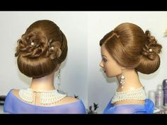 Wedding prom hairstyles for long hair, updo hairstyles - YouTube
