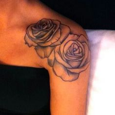 """""""25th Jan: Something I want to get in the near future. A tattoo. Specifically a coloured rose tattoo on my shoulder ❤️. #januaryphotochallenge #tattoo"""""""