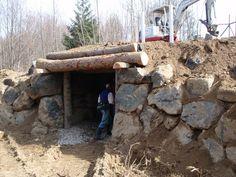 Sepp Holzer's root cellar / animal shelter