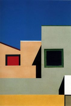 #architectural  Venice, Los Angeles, 1990 // by Franco Fontana