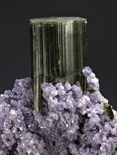 Elbaite, Lepidolite ~ Cruzeiro mine, São José da Safira, Doce valley, Minas Gerais, Brazil