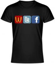 Originálne a vtipné tričko, ktoré musíte mať What the fuck Social sites. UNISEX tričko je dostupné vo viacerých farbách a veľkostiach. Materiál 100% bavlna. Či už si fanúšikom sociálnich sietí ako sú facebook, tweeter a podobne alebo ich odporca je toto tričko vhodné práve pre teba. Vhodné ako netradičný darček.