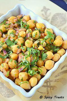 Cilantro Lime Chickpea Salad - chickpeas, red onion, ginger, lime, cilantro, chilli powder,