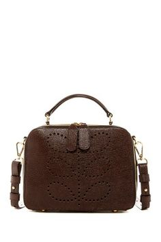 Mini Leather Bay Satchel Orla Kiely cdfdf47825ef2