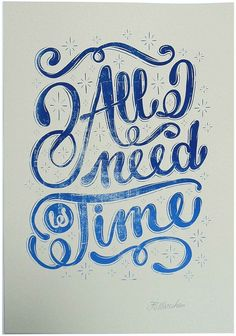 Print Club London | shop | all_i_need_is_time