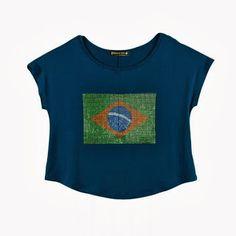 Camiseta Bandeira do Brasil em Strass por R$49,90  - Blog do TriClick - Tudo em 3 Clicks
