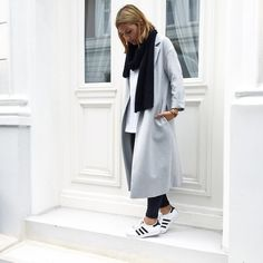 Get this look: http://lb.nu/look/7629506  More looks by Aylin König: http://lb.nu/aylinkoenig  Items in this look:  Adidas Sneaker, Cos Coat, Cos Scarf