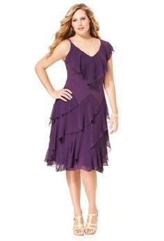Avenue Plus Size Asymmetrical Ruffle Dress $19.96